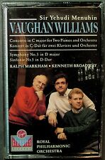 Vaughan Williams, Menuhin: Concerto in C  for Two Pianos; Sym. 5 (Cassette..