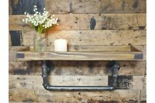 industrial wooden shelf