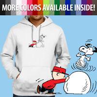 Peanuts Snoopy Dance Charlie Brown Winter Fun Pullover Sweatshirt Hoodie Sweater