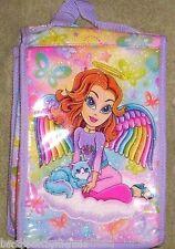 Lisa Frank VINTAGE Angel Girl Lunchbox NeW Lunch Box Bag Tote + 1 Lisa Folders