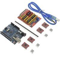 CNC Shield V3.0 Engraver+UNO R3 Board+A4988 Driver + Heatsink Kits for Arduino