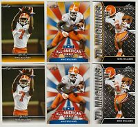 """6"" MIKE WILLIAMS 2017 LEAF DRAFT GOLD ""6"" CARD ROOKIE LOT! CLEMSON TIGERS!"