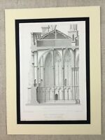 1857 French Architectural Print Reims Cathedral Original Antique Engraving