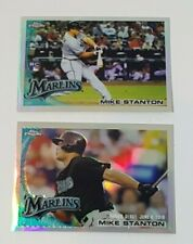 2010 Topps Update Chrome Refractor #CHR20 & CHR61 Mike Giancarlo Stanton RC Lot