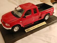 """GORGEOUS & FUN 1:18 1998 FORD DIECAST. F-150 PICK-UP 10"""" LONG BY MIRA ON STAND"""