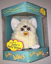 Furby Baby Lamb Beige With White Ears and Green Eyes