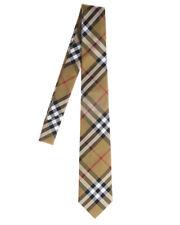 Burberry Tie Stripes MANSTON Silk MADE IN ITALY Man Beige 8002111 Sz.U MAKEOFFER