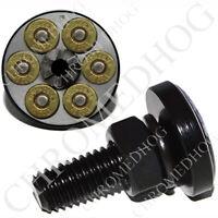 4 Black Billet Hex Lic Fastener License Plate Frame Tag Bolts 44 MAG REVOLVER V2