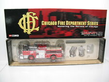 CORGI CHICAGO FIRE DEPARTMENT MACK CF ENGINE 35 WITH FIGURES US52007 1/50 SCALE