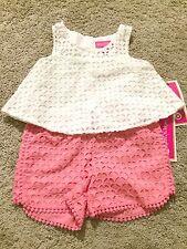 NWT Lilly Pulitzer Target Girls Pink Eyelet Shorts & White Eyelet Tank Top 6/6X