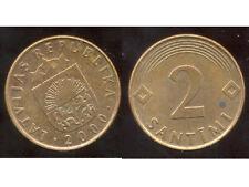 LETTONIE  2 santimi  2000
