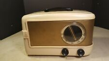 Antique Emerson Table Radio Model 543 Cream and Black- NICE PROJECT!