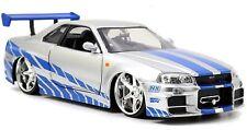 Jada Toys Fast Furious Brian'S 2002 Nissan Skyline R34 Die-Cast Car, 1:24 Scal .