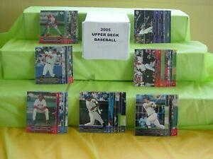 2005 UPPER DECK BASEBALL COMPLETE CARD SET 500CT JETER ORTIZ GLAVINE KONERKO