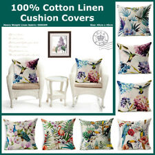 Tropical Parrot Cockatoo Heavy Duty Linen Cotton Cushion Cover Home Decor Pillow