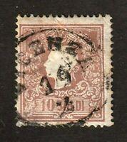 Austria stamp, Lombardy Venetzia #11, used, type 1, 1858-62, SCV $140