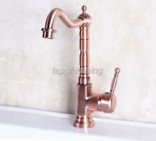 Red Copper Kitchen Swivel Faucet Mixer Basin and Sink Faucets Deck Mount tnf253