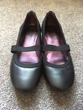 CLARKS Black Leather Mary Jane Flats UK 6 AU 7 7.5 Worn Once Only