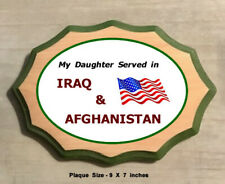 Veteran's Service Plaque - My Daughter Served in Iraq and Afghanistan
