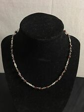 Silpada .925 Sterling Silver Faceted & Garnet Bead Necklace (I-836AJ)