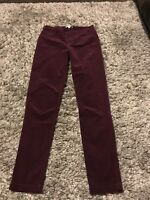 White Stuff Maroon Red Skinny Cord Jeggings Leggings Sz 12 Mint Condition