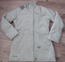 Cable De Pana Adidas Raro Mujeres Beige/Camel Abrigo Chaqueta de estilo militar UK12 EU40