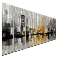 Abstract Metal Wall Scupture City View by Osnat Contemporary Citiscape Décor