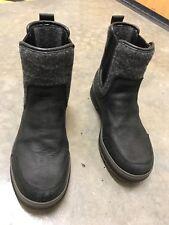 Ugg Australia Black Leather Morton 1003140 Slip On Boots Waterproof Mens Sz 9