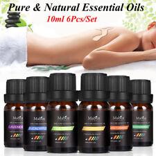 6pcs 100% Natürliche Reine Ätherisches Öl Aromatherapie Duft Diffusor Set 10ml