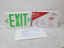 Philips Chloride Emergency Exit Sign VEGWEM Green 120/277 VAC Stencil Face Plate
