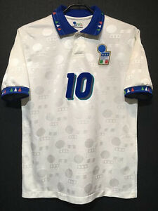 1994 Italy Away Kit Soccer Jersey #10 Baggio All Sizes