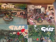 Six Giles Cartoon Annuals from the 70's; 25th edition & 29 to 33.