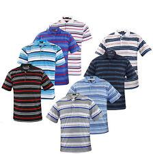 Mens T Shirts Yarn Dyed Strip Pocket Polo Shirt Top Multi-Color Big Size 3XL-5XL
