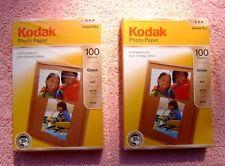 Pack of 2 Kodak Photo Paper - Gloss, 4x6 in. 44 lb. 6 mil. 100 sheet per pk