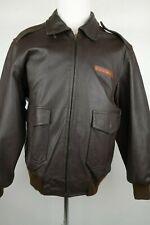 AERO Avirex A-2 Leather Flight Bomber Jacket Men Size XL