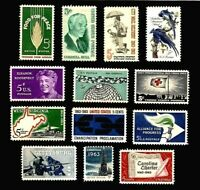 U.S COMMEMORATIVE YEAR SET 1963 12 STAMPS SCOTT 1230-1241 MNH, NICE!!!!!