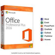 Microsoft Office 2016 Professional Plus Vollversion 32/64-Bit  24/7 Lieferung