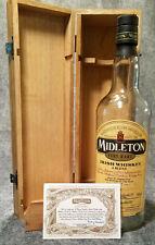 Middleton Irish Whiskey 2007 Mahogany Display Box, Empty Bottle & Certificate