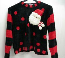 Berek 2 Christmas Santa Ugly Sexy Christmas Sweater Long Sleeve Knit Sz L Vtg