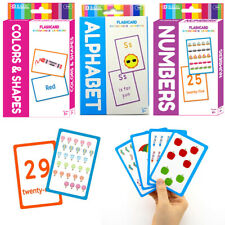 Set of 3 Early Learning Flash Cards Alphabet Letters Colors Numbers Educational