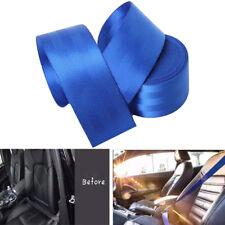 3.6M Seat Belt Webbing Polyester Seat Lap Retractable Nylon Safety Strap Blue