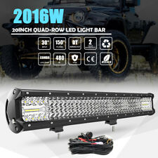 QUAD ROW 20INCH 2016W CREE LED LIGHT BAR SPOT FLOOD WORK LAMP OFFROAD UTE ATV 23