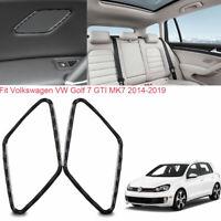 For VW Golf 7 GTI MK7 2014-2019 Vehicle Rear Door Horn Trim Carbon Fiber Sticker