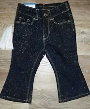 Jordache Baby 12 Months Infant Girls Glitter Baby Boot Jeans NWT