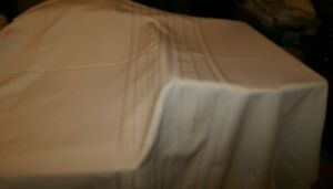 """OFF WHITE POLYESTER BLEND Tablecloth 60""""x 100"""""""