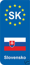 lot 2 Stickers style immatriculation (Vinyl FLAG) Europe Slovensko SK