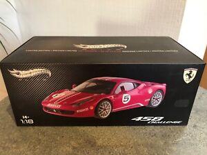 Hot Wheels Elite 1:18 Ferrari 458 Challenge Presentation #5 Red - X5486