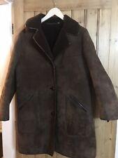 "Oakleaf - Genuine Ladies Vintage Sheepskin Coat- Chocolate Brown - 38"" Size 12"