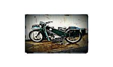 1965 velocette le Bike Motorcycle A4 Retro Metal Sign Aluminium