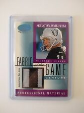 SEBASTIAN JANIKOWSKI  2001 Certified Materials Fabric of the Game JERSEY 17/21